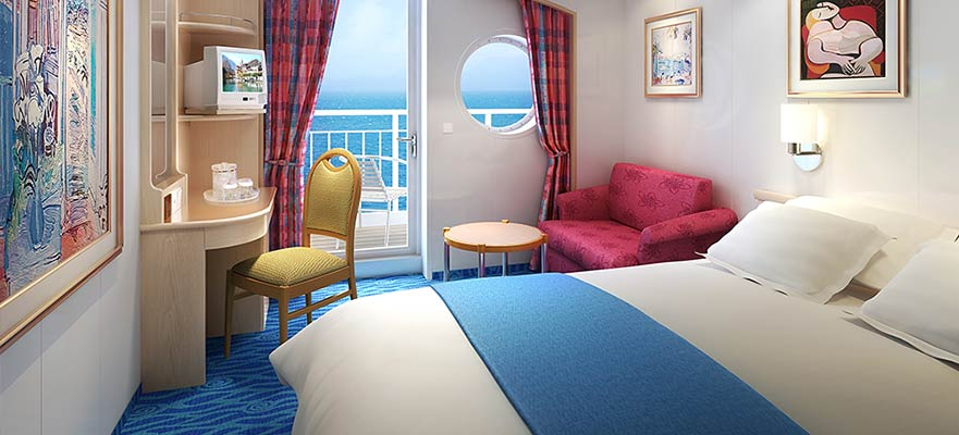 Staterooms for Cruise ship balcony view